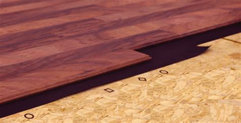 Fitting hardwood flooring to different subfloors   The Wood