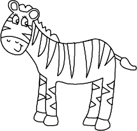 baby zebra coloring pages getcoloringpagescom