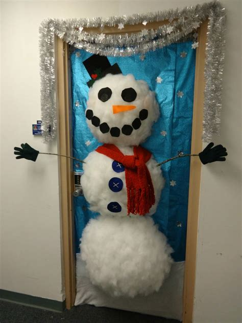 snowman door decorations door decorating ideas happy holidays