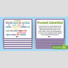 Fronted Adverbials Ks2 Features Of Sentences Display Posters  What Is A