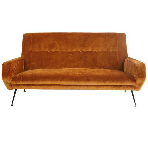 mid century velvet sofa mid century italian velvet sofa at 1stdibs