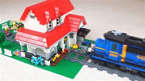 Lego Train Crash Into Family House