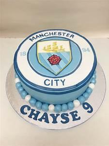 Manchester City football badge birthday celebration cake ...