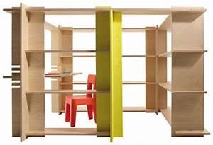 Bibliotheque Bois Clair : biblioth que my first office espace jeu bureau 180 x 140 x h 120 cm bois clair jaune ~ Teatrodelosmanantiales.com Idées de Décoration