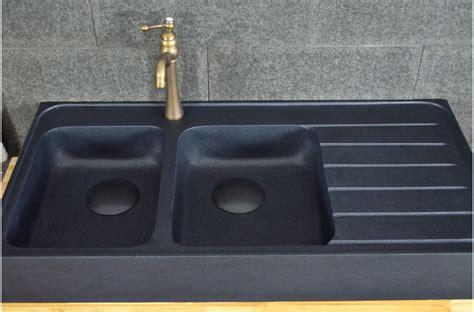 evier de cuisine en granite 120x60 évier granit noir de cuisine en 2 cuves