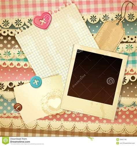scrapbook template royalty  stock photo image