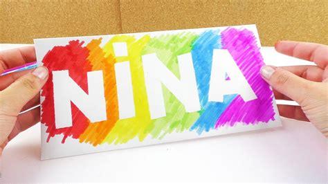 Cooles Namensschild In Regenbogen Farben  Deko Idee Fürs