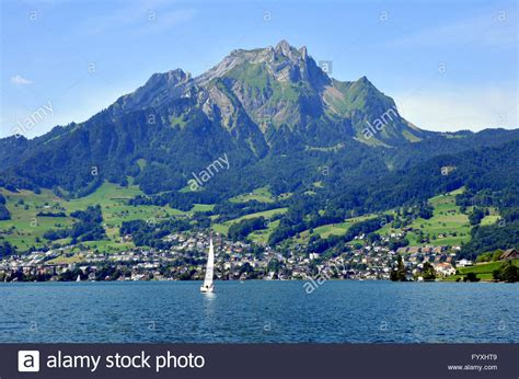 Hergiswil To Lucerne By Boat sailing boat mount pilatus hergiswil lake lucerne
