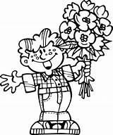 Coloring Flowers Bouquet Printable Kerra Coloringtop sketch template