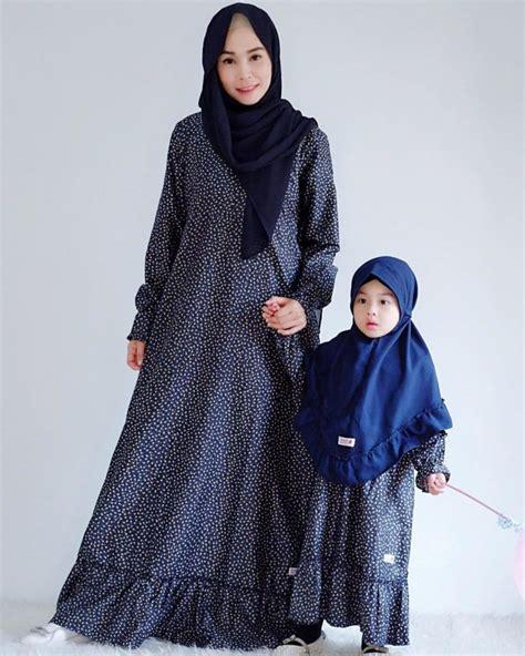 model gamis couple ibu  anak lucu  gro