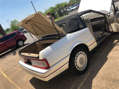 cadillac allante convertible white running parts