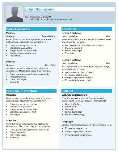 nontraditional resume  creative resume templates unique