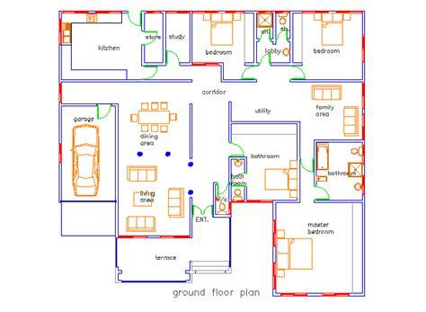 jonat  bedroom house plan  ghana  bedroom house plans bungalow house floor plans