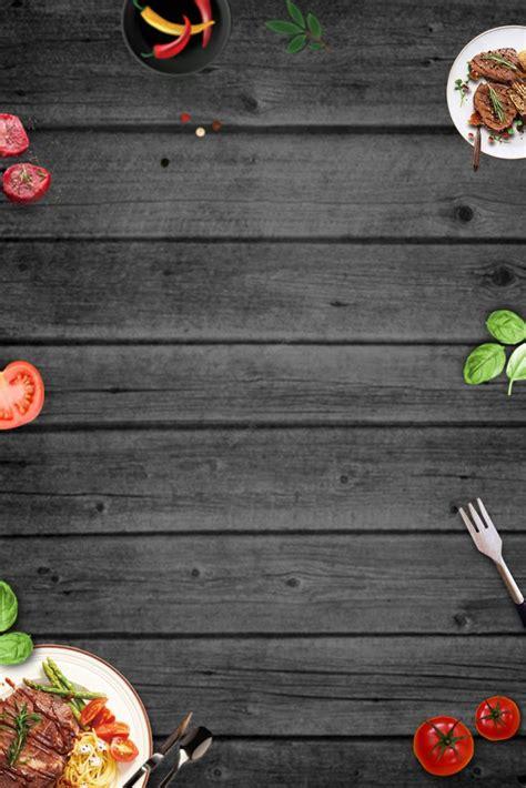 gourmet western steak minimalistic poster background