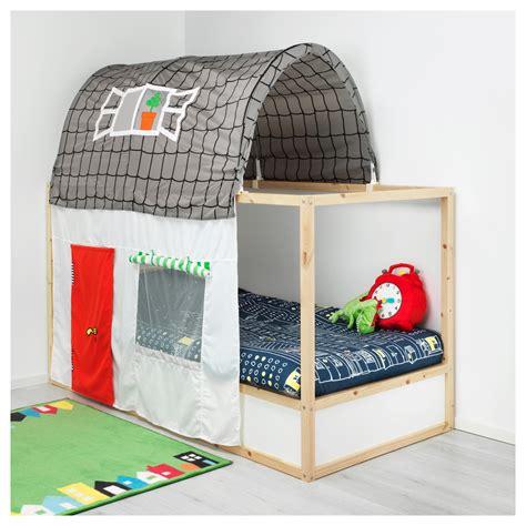Kura Bed Tent With Curtain Greywhite Ikea