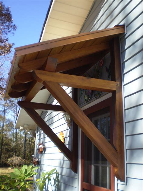 cedar awning  projects   porch roof porch awning patio canopy