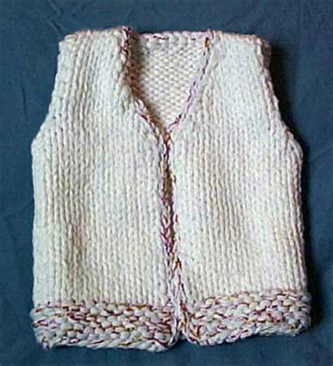 knitting pattern  vest  toddlers