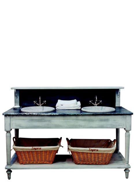 Salle De Bains Drapiere 160*60*108 Dessus Zinc 2 Vasques
