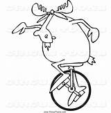 Unicycle Clipart Moose Circus Djart Clipartmag Coloring Template Sketch sketch template