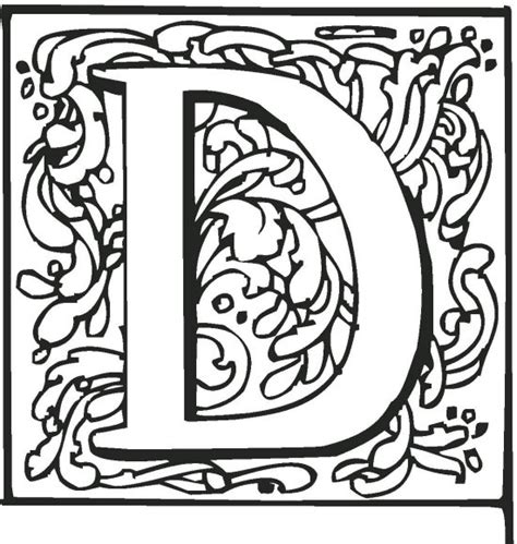 Fancy Alphabet Letters Print And Color