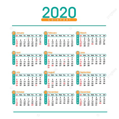 calendario  simple descarga gratuita de plantilla en pngtree