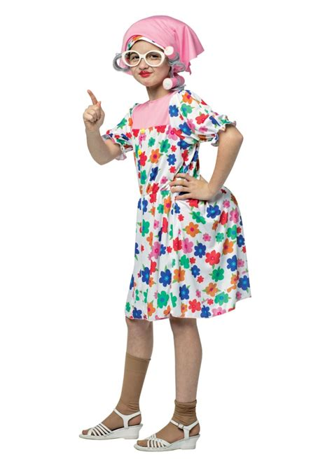 maid granny girls costume funny costumes