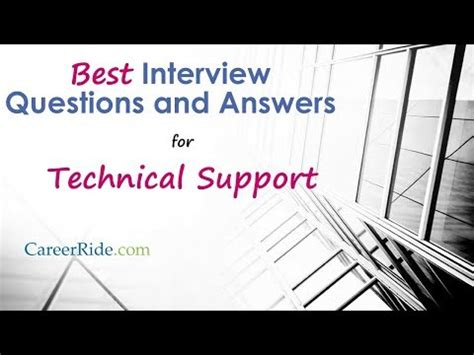 help desk technical interview questions tech support foamy the squirrel