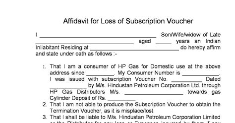 lpg gas india form loss  subscription voucher sv