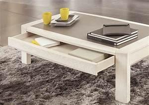 Table Basse Moderne : acheter votre table basse moderne 1 tiroir plateau ~ Melissatoandfro.com Idées de Décoration