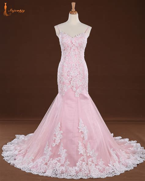pink and white l compare prices on white and pink wedding dress online
