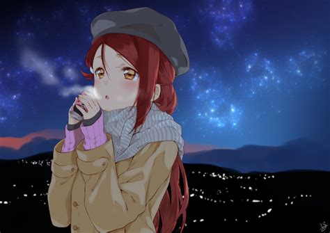 wallpaper love  sunshine nishikino maki winter