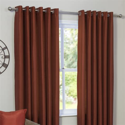 faux silk curtains