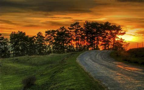sunset road desktop background  wallpaperscom
