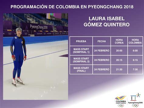 Horarios De Los Colombianos En Los Juegos Olímpicos De