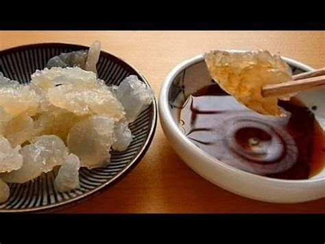 eating japanese food sashimi jellyfish sashimi