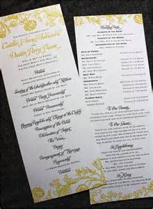 printable wedding program fans 30 wedding program design ideas to guide your party guest