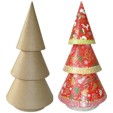 tall christmas tree n0002 decopatch and paper mache