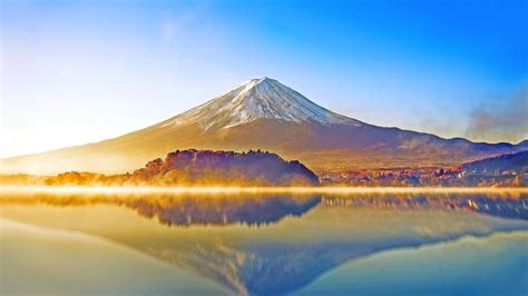 wallpaper mount fuji lake kawaguchiko japan hd