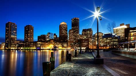 Boston Harbor Night View Boston Youre My Home 2