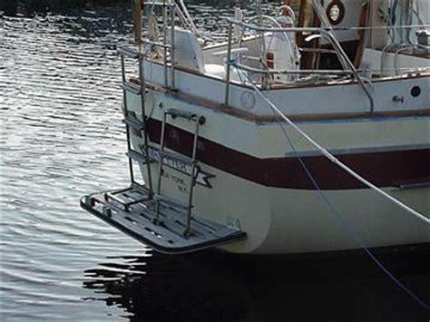 Sailboat Swim Platform by Csy Sailboats Then And Now Swim Platforms Retrofitting