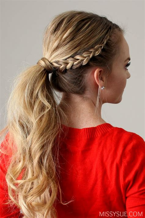 Braided Ponytail Hairstyles For by Lace Braid Ponytail Hair Tutorials Braided