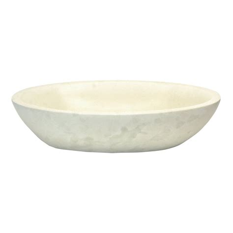 lowes white vessel sink shop eden bath white stone vessel oval bathroom sink at