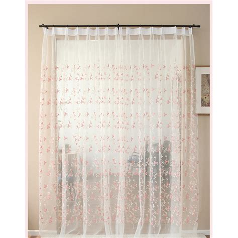 valance bay window white floral beautiful pinch pleated room divider