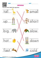 english  words worksheets  kids