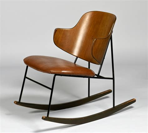 lot 448 ib kofod larsen penguin rocking chair
