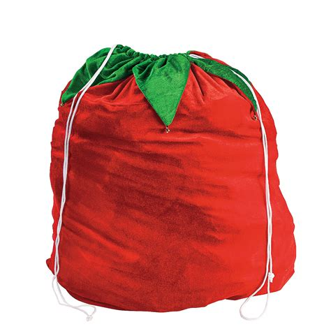 large santa bag with jingle bells oriental trading
