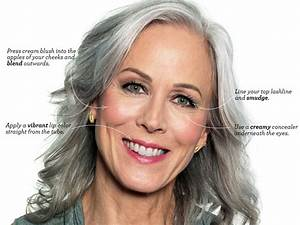 How to Wear Makeup With Gray Hair  LEAFtv