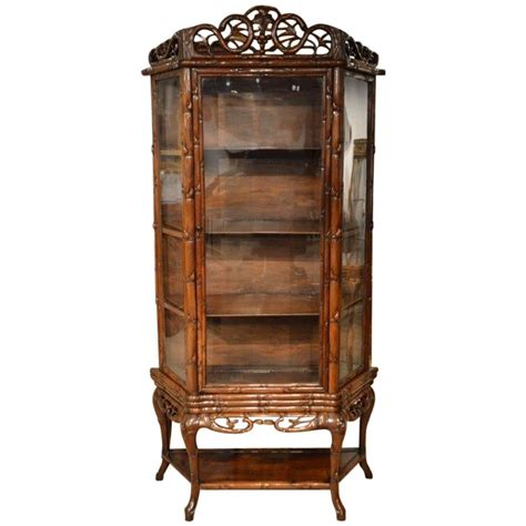 Display Cabinets For Sale - hardwood antique display cabinet for sale at 1stdibs