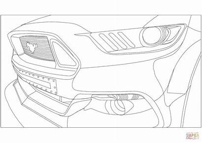 Coloring Ford Mustang Pages Veiw Drawing Printable