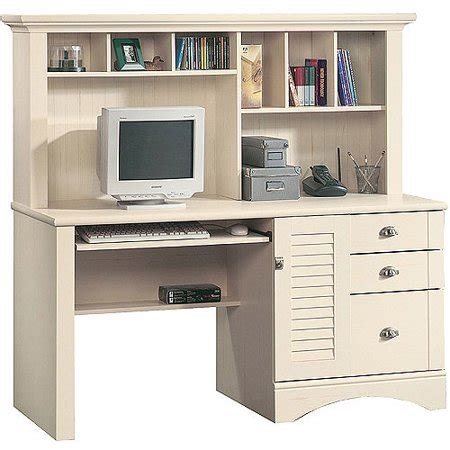 desk with hutch white sauder harbor view computer desk with hutch antiqued